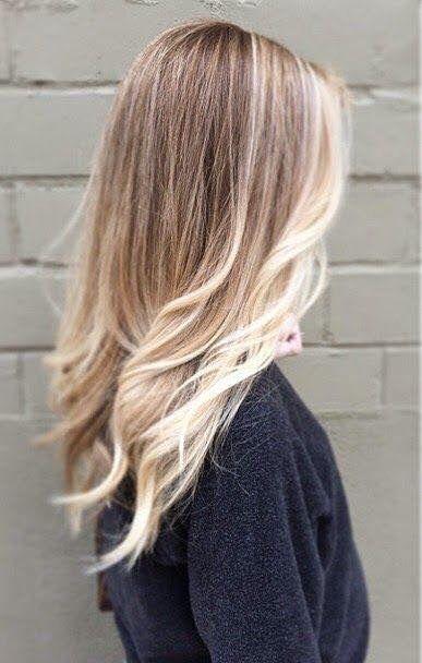 Kapsel- ombre #blond #lang #longhair
