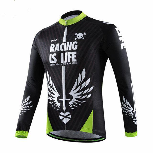 CHEJI Unisex Warm Long Sleeve Camouflage Cycling Jersey [Sz S-3XL]