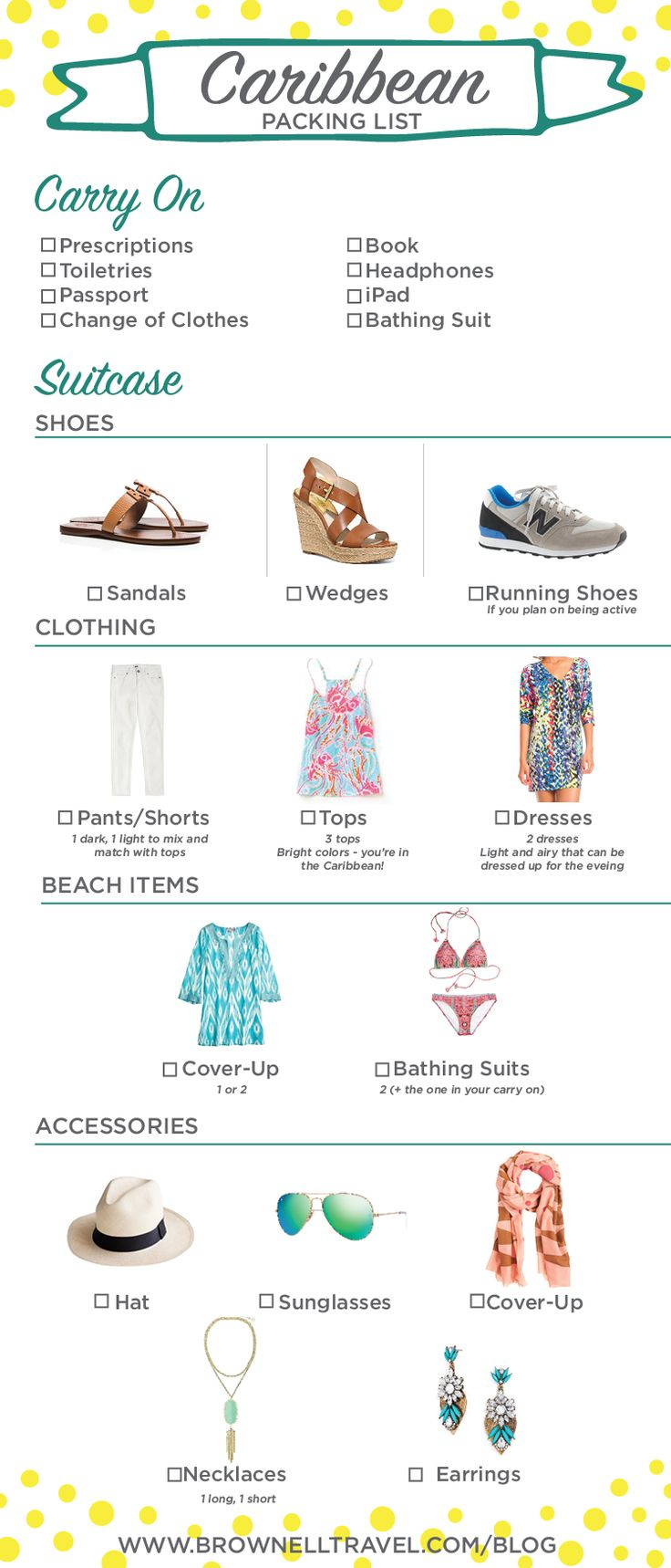 Caribbean Packing List - Make packing for your warm weather getaway a breeze!