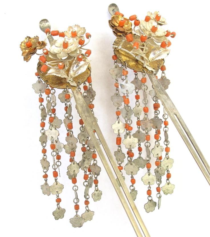 Vintage Japanese Bira Kanzashi Hair Pin Ornament