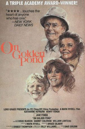 On Golden Pond is a 1981 drama film starring Henry Fonda, Katharine Hepburn and Jane Fonda. Henry Fonda won the Golden Globe Award for Best Actor - Motion Picture Drama and the Academy Award for Best Actor in what was his final film role. With box office revenue exceeding $119 million, On Golden Pond was the second-highest grossing film of the year, following Raiders of the Lost Ark. It is also ranked #22 on the AFI's 100 Years... 100 Passions list of great films.