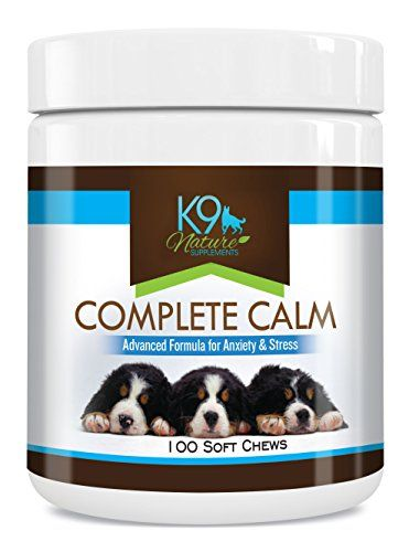 Dog Calming Treats - Complete Calm Supplement Aids in Reducing Stress for Large and Small Dogs, All Natural Soft Chews for Separation Anxiety, Travel, Motion Sickness, & Other External Stressors