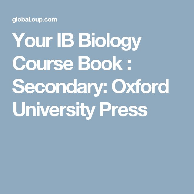 Your IB Biology Course Book : Secondary: Oxford University Press