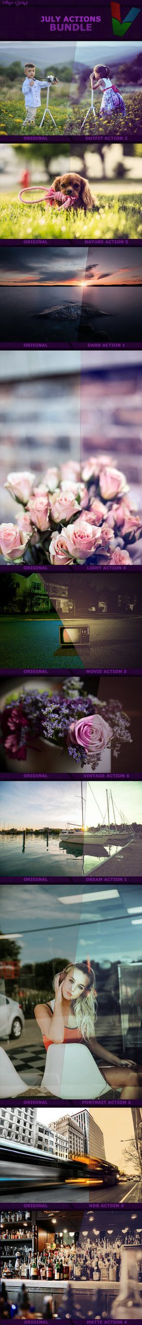 July Photoshop Actions Bundle by ViktorGjokaj.deviantart.com on @DeviantArt  #blur #free #go #photo #pokemon #sun #addons #animals #beforeandafter #children #clean #clouds #colors #dark #dog #download #effects #face #film #filters #flowers #focus #hdr #july #light #macro #model #movie #nature #outifit #photographer #photoshop #professional #resources #romance #rose #selfie #sky #vintage #watercolor #blurryface #actons #hdrphotography #use