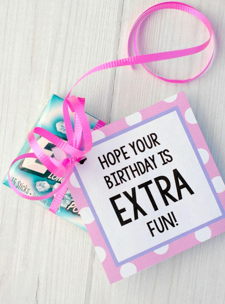 Extra Gum Birthday Tag