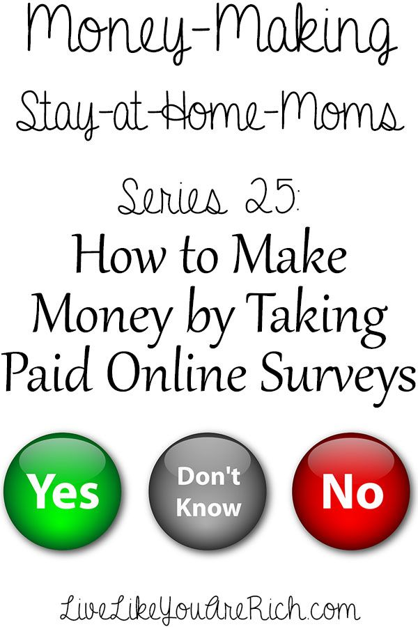How to Make Money Taking Online Surveys #LiveLikeYouAreRich