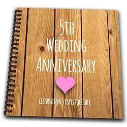5th Wedding Anniversary Gift Wood Celebrating 5 Years