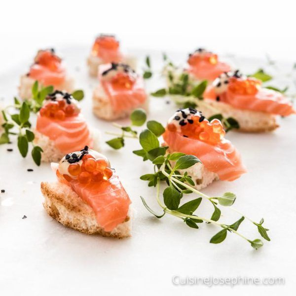 Best 25 salmon canapes ideas on pinterest for Canape appetizers