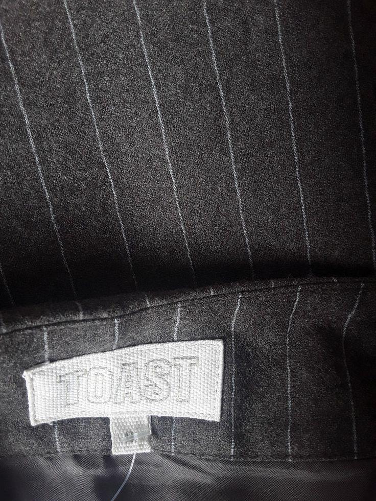 Toast pinestripe woollen skirt #Toast #StraightPencil