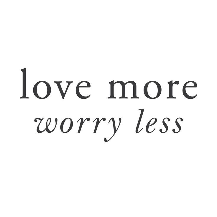 """The love more worry less wall quote decal gives you the freedom to give up your worries and replace them with love. 24""""x10"""" (61x25cm)"""