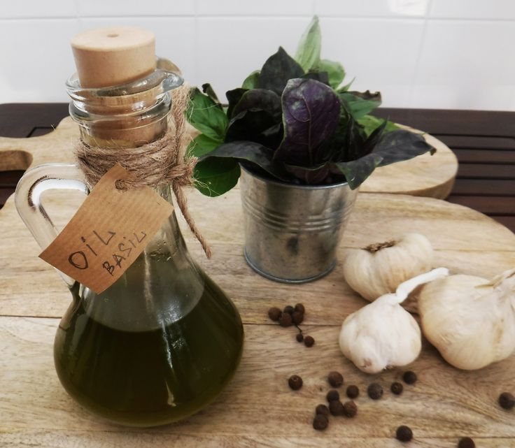 Ароматное оливковое масло с базиликом