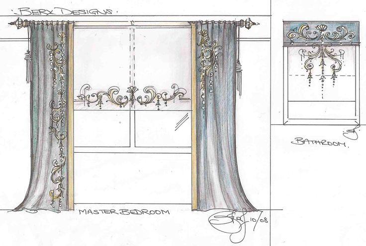 Bery Designs hand painted fabrics: VIS
