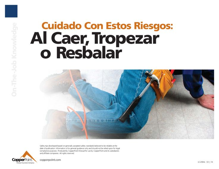 Spanish version of work safety poster.