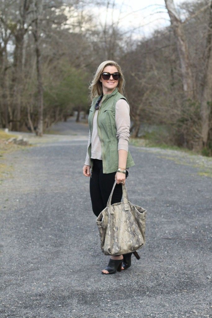 cute military jacket outfit