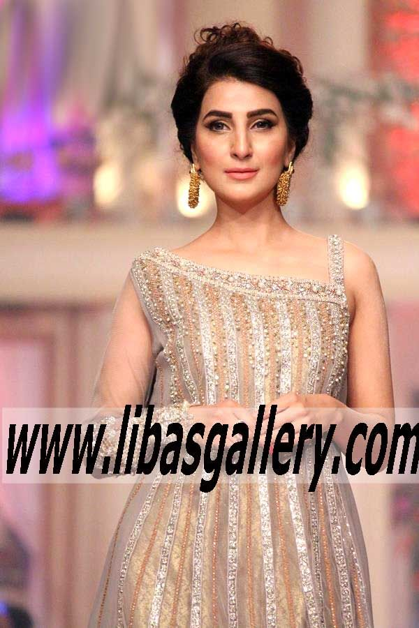 Lovely Shop the Largest Collection of Designer Asifa u Nabeel Telenor Bridal Couture Week Pakistani Indian Party wear n Bridal Wedding Dresses Online on