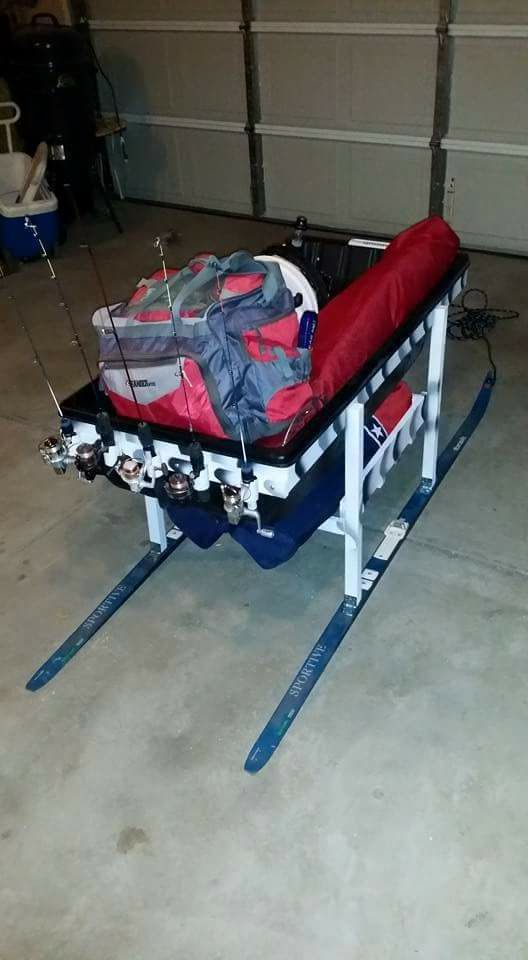 how to make ice fishing sled