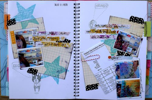 Dina Wakely's Smash Book- her stamps are AWESOME!