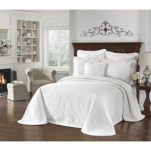 1pc 114 X 120 Solid White Oversized Bedspread King Floor Cotton Hangs Over Edge Bedding Drops Side Bed Frame Drapes Large Extra Bed Spreads Side Bed Bed Frame