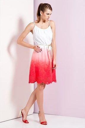 Zanzi  - Kırmızı Elbise 4593