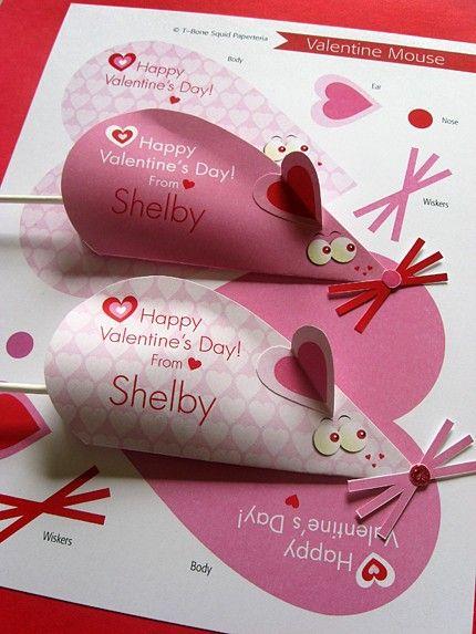 Ratón tarjeta de San Valentín artesanía por TBoneSquid en Etsy
