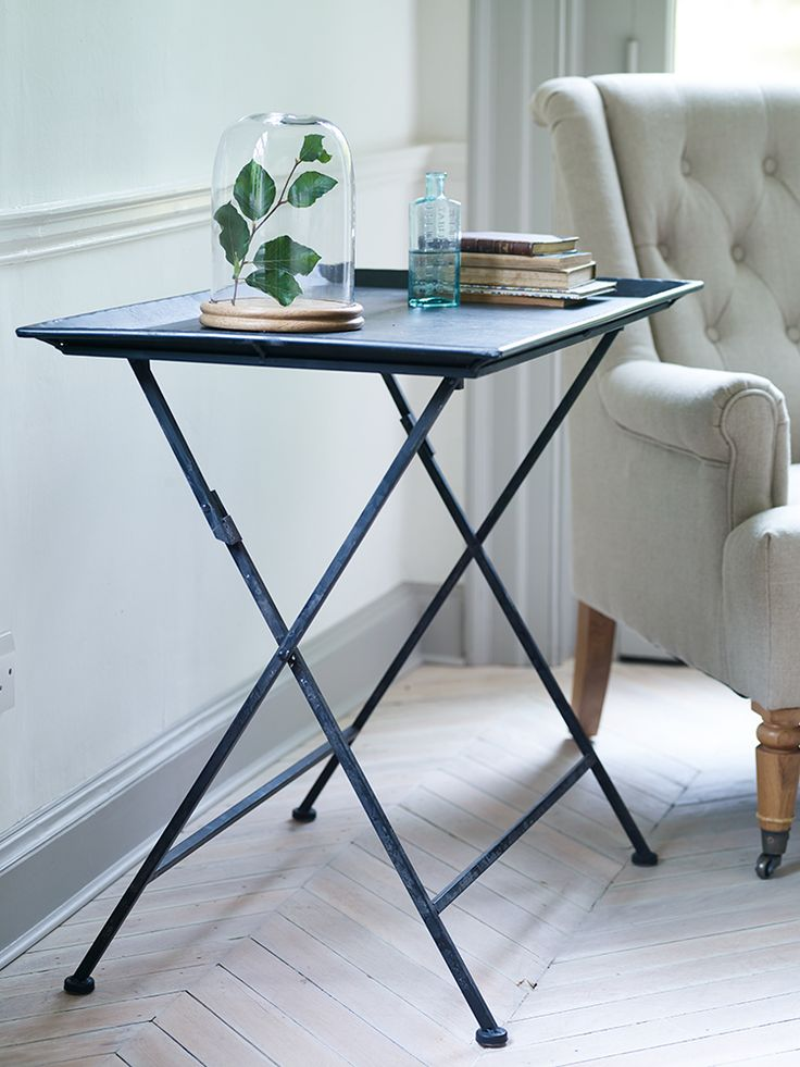 Antiqued Metal Side Table