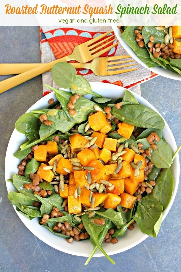 Roasted Butternut Squash Salad Veggies Save The Day Recipe Butternut Squash Salad Butternut Squash Spinach Spinach Salad