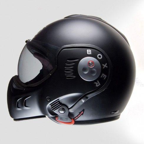 Roof Boxer V8 Helmet Matt Black Side Helmet Full