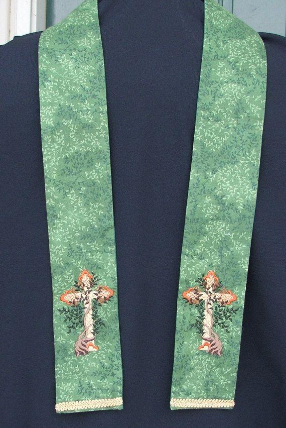 Clergy stole,Chaplain, visitation, Tree of Life Cross ...