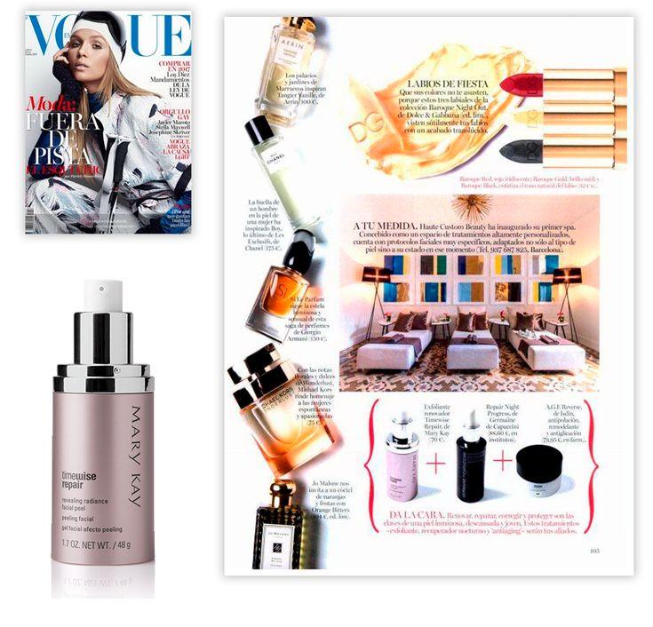 Descubre el Exfoliante Renovador de TimeWise Repair de Mary Kay en la revista Vogue de enero de 2017