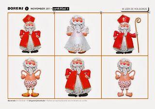 Rangschikken: Sint kleed zich aan