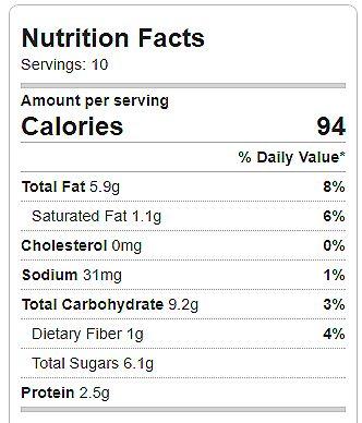 Erdnussbutterplätzchen Nährwertangaben – Schokolade überzogen Katie