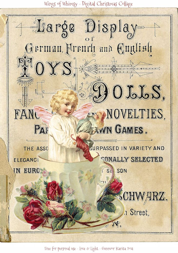 I have two more Vintage Digital Christmas Collages for you today: For this series I have focused on Christmas Typography. There's catalogue pages, title pages and trade cards. What they have…