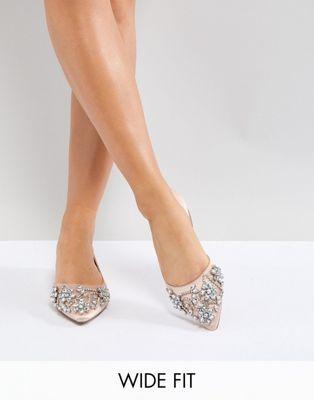 51e341371fea ASOS VIOLET Wide Fit Embellished Ballet Flats
