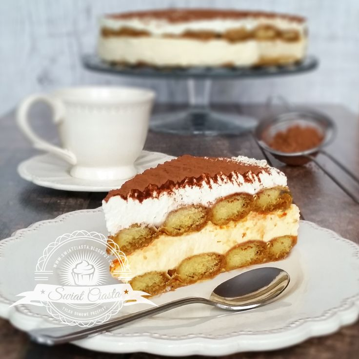 Sernik Tiramisu na zimno   Świat Ciasta