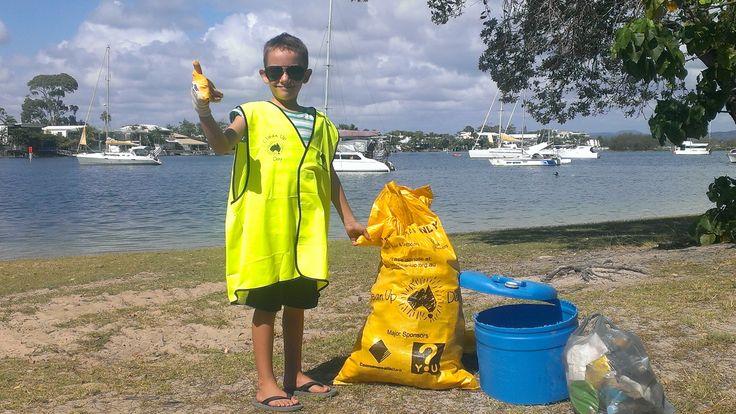 Marvin going hard at Clean Up Australia Day - Noosa Woods. Photo by Matt Garnham