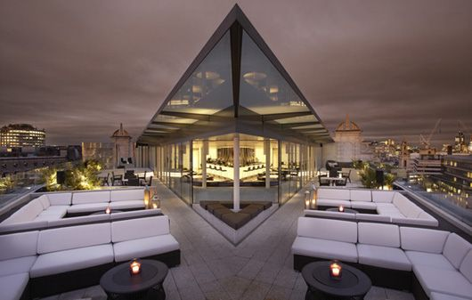 #Terrace of #ME #Hotel by #Melia in #London. Designed by #Foster + Partners