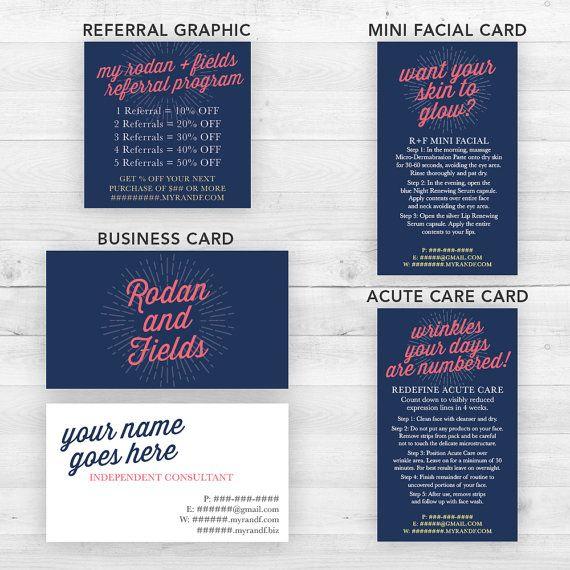 Rodan and Fields Business Cards Group Navy   by LittleBizDesigns
