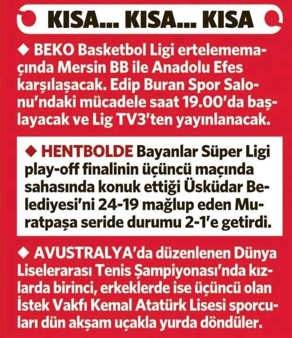 1 Mayıs 2013 / Fotomaç Gazetesi