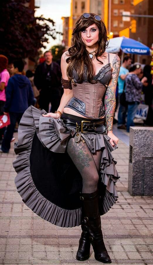 Lovely steampunk cosplay