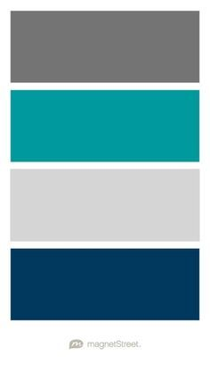 Charcoal, Teal, Silver, and Navy Wedding Color Palette - custom color palette created at MagnetStreet.com