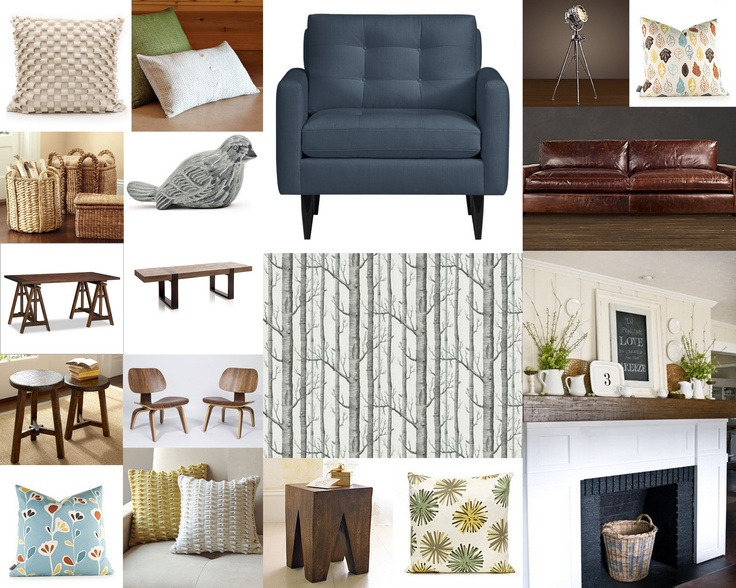 Nature inspired living room little cape cod mood board for Nature inspired rooms