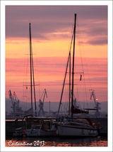 Sunset after sailing.
