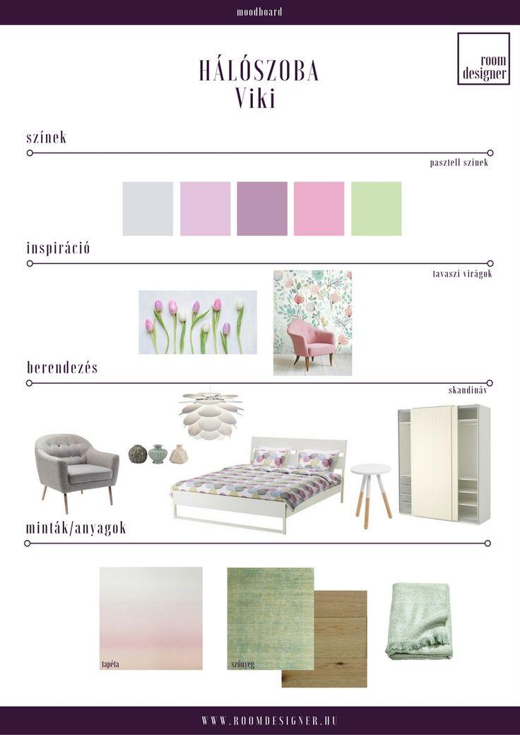 Moodboard/ pasztell skandináv hálószoba Room Designer - Lakberendezés.Online.Fix áron.
