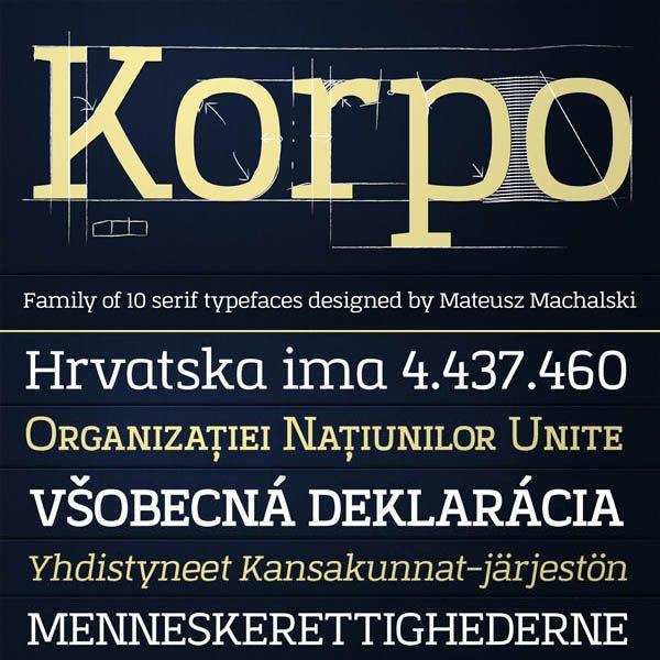 Korpo Serif - Slab Type Family by Mateusz Machalski