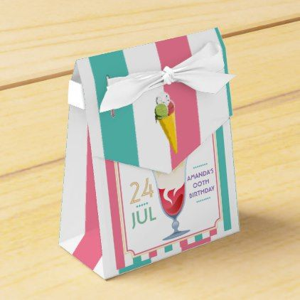 #party - #Ice Cream Birthday Party personalized Favor Box