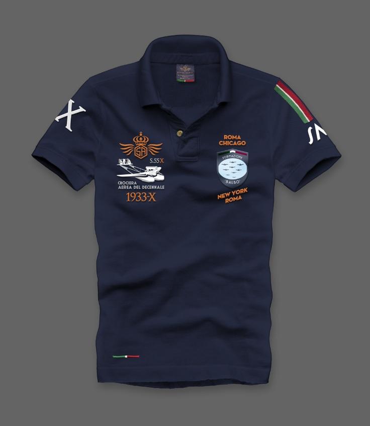 MM001X DECENNALE Polo dedicata alla Trasvolata Atlantica ...