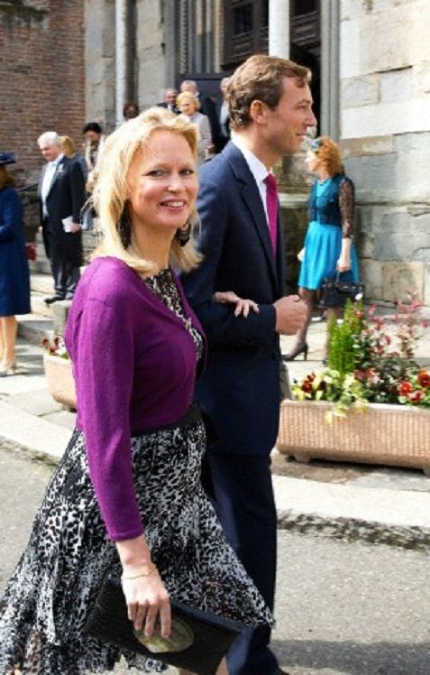 Princess Carolina of Bourbon-Parma and Albert Brenninkmeijer attend the christening of Dutch Princess Cecilia of Bourbon-Parma in the Cathredral of Piacenza, 05.04.14.