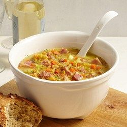 CrockPot Swedish Yellow Split Pea Soup with Ham - EatingWell.com
