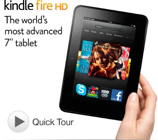 """Kindle Fire HD - Most Advanced 7"""" Tablet - Only $199 Disclosure Affiliate only"""