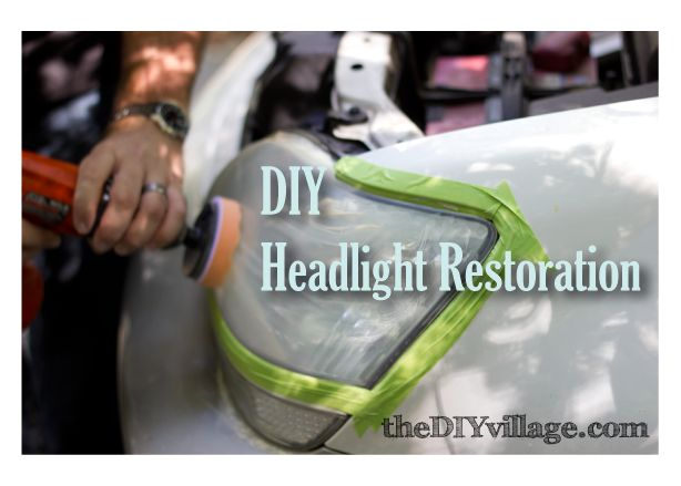 Tutorial: DIY Car Headlight Restoration (I'm thinking about other plastics/acrylics this might work with)